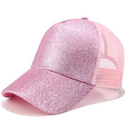 Glitter Ponytail Baseball Cap - Nova Dream Shop