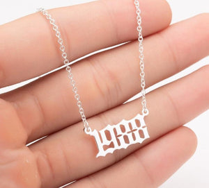 Customized Year Number Gold / Silver Necklaces for Birthday Gift - Nova Dream Shop