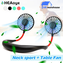 Load image into Gallery viewer, Mini USB Portable Fan Neck Fan Neckband With Rechargeable Battery for Sport - Nova Dream Shop