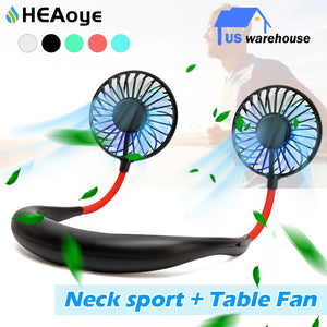 Mini USB Portable Fan Neck Fan Neckband With Rechargeable Battery for Sport - Nova Dream Shop