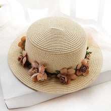 Load image into Gallery viewer, Parent-child Summer Sun Hat Bucket Flowers Ribbon Flat top Hat - Nova Dream Shop