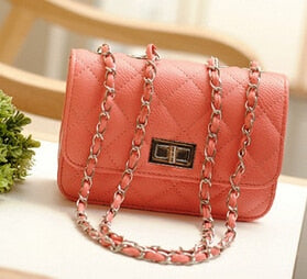 High quality PU leather Women bag Small incense wind chain Lozenge Shoulder bag - Nova Dream Shop