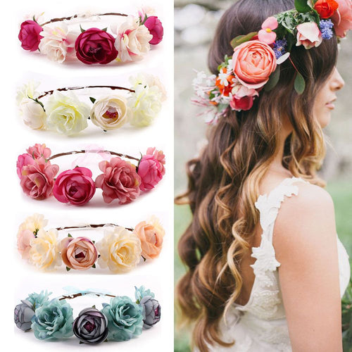 Bohemia Flower Floral Hairband Hair Accessories - Irene Cheung