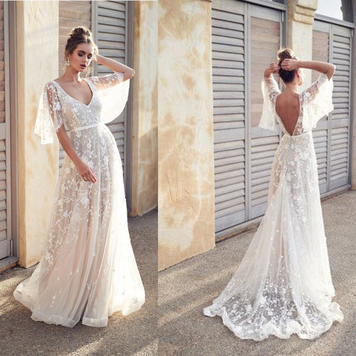 Women long Backless Sleeveless White Dresses Vacation Wear - Irene Cheung