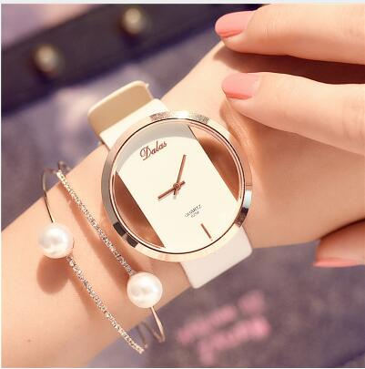 Women Bracelet Watch Leather Crystal Wrist Watch - Irene Cheung