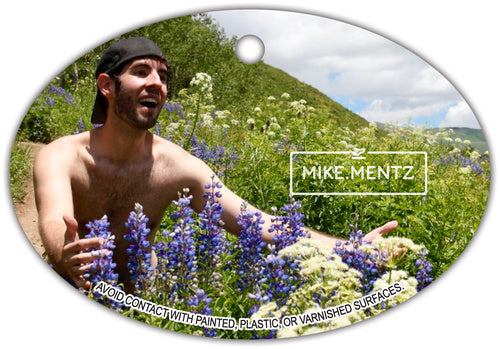 Man Embracing Wildflowers Air Freshener