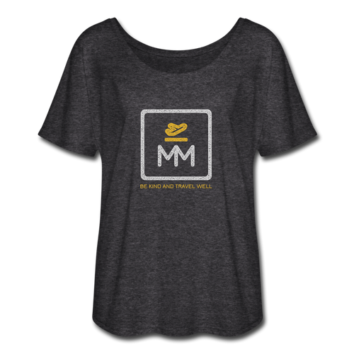 Women's Flowy MM Icon Tee - charcoal gray
