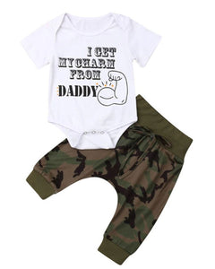 """I get my charm from my daddy"" set"