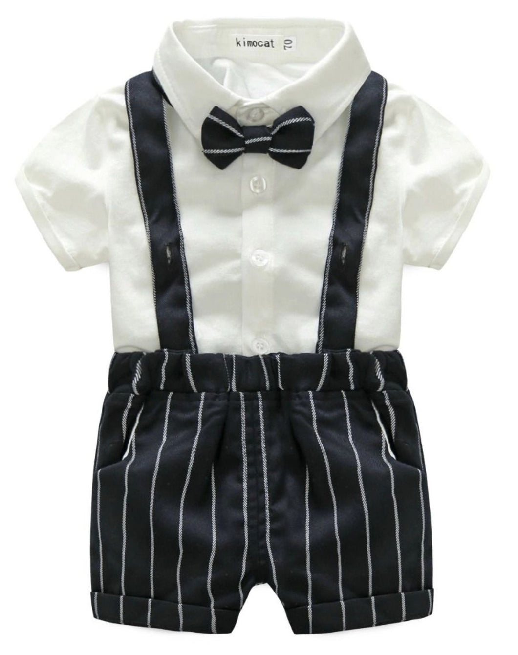 Boys suspender one piece romper