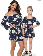 Load image into Gallery viewer, Mummy and me floral jumpsuit