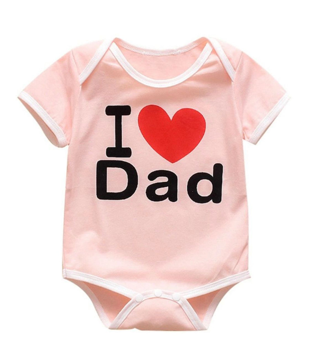 "Pink ""I love dad"" romper"
