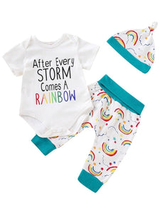 """After every storm comes a rainbow"" set - size 6 months"
