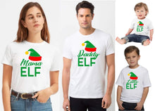 Load image into Gallery viewer, Family matching Christmas elf T-shirt - little elf (boy or girl)