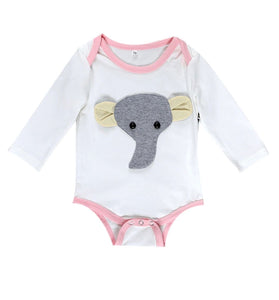 Long sleeve elephant rompers