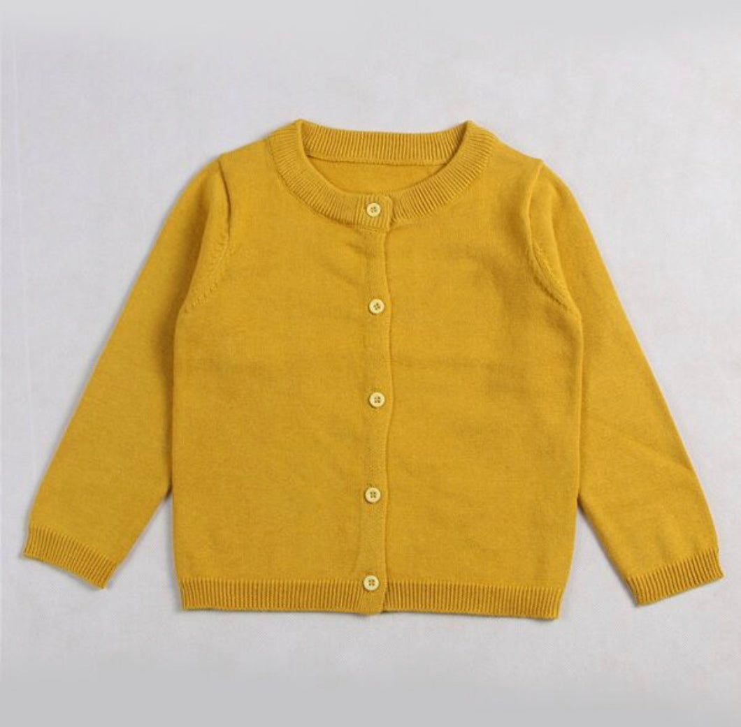 Little girls mustard cardigan