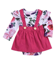 Load image into Gallery viewer, Girls pink pinafore set