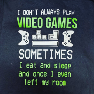 Video games Tee - family matching. Available in ladies, mens, kids sizes