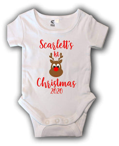 My first Christmas personalised romper