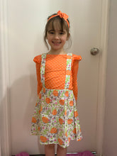 Load image into Gallery viewer, Girls halloween outfit - orange and white