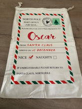 Load image into Gallery viewer, Personalised Christmas Santa sacks