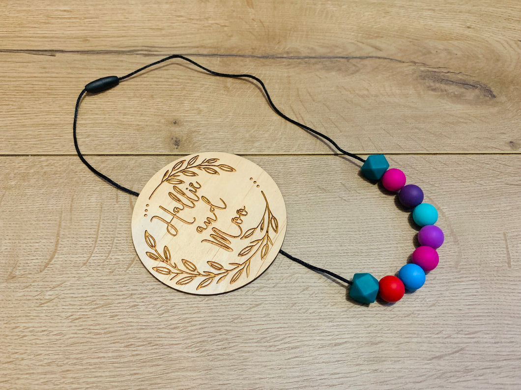 Silicon bead nursing necklace