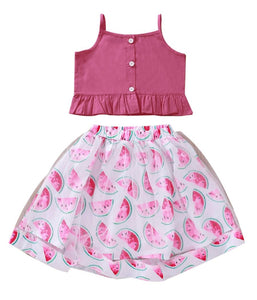 Super cute two piece girls watermelon set