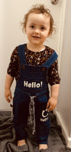 Load image into Gallery viewer, Unisex stretchy overalls size 18 months-2
