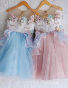 Gorgeous Unicorn dress; orange/pink colour