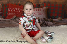 Load image into Gallery viewer, Boys Christmas set- red