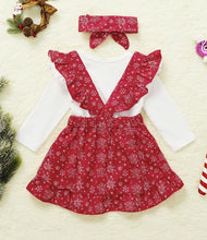 Load image into Gallery viewer, Baby girls three piece Christmas set