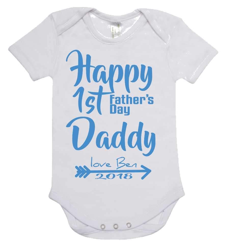 Babies personalised romper / T-shirt for Father's Day