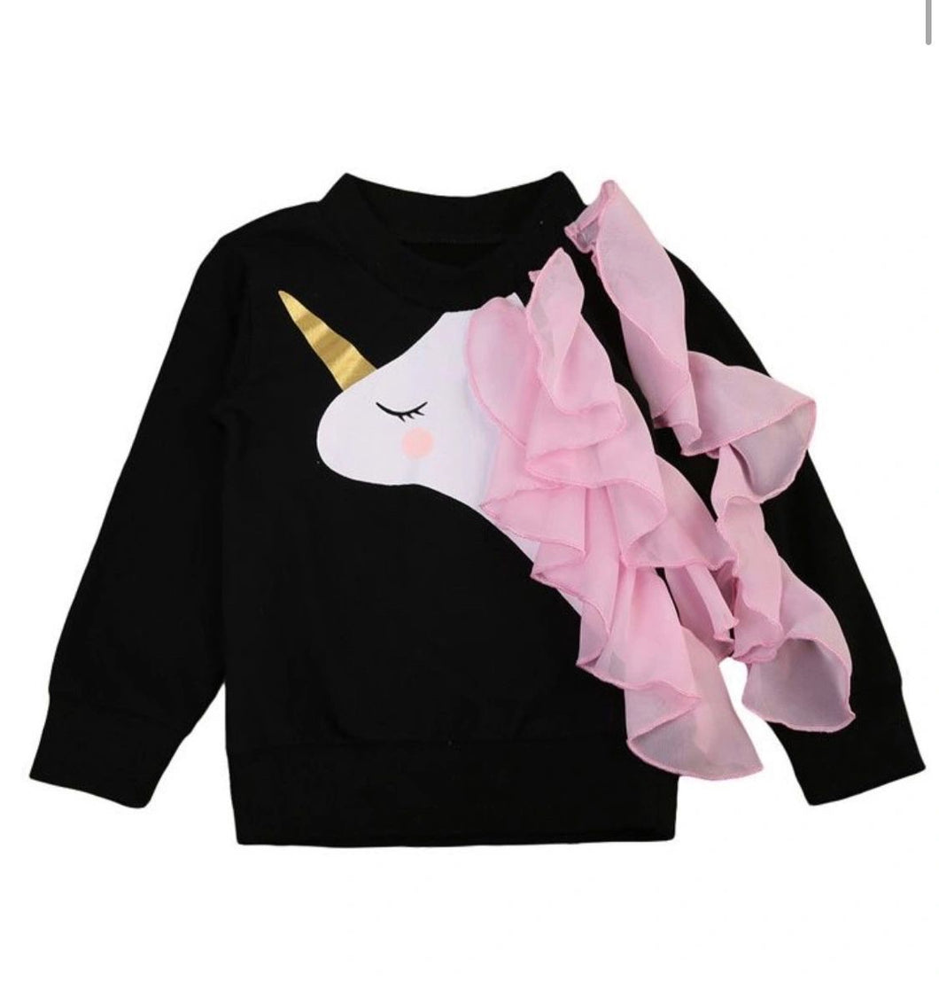 Long sleeve unicorn top