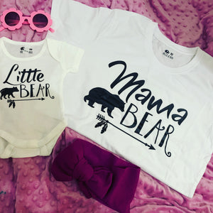 Children's / babies Little bear romper/T-shirt mummy and me matching
