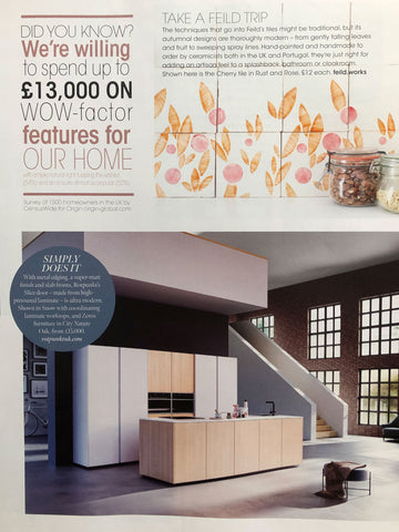 Kitchens, Bedrooms & Bathrooms magazine November 2020 featuring tiles by Feild
