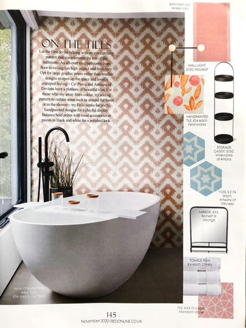 Red Magazine November 2020 featuring tiles by Feild