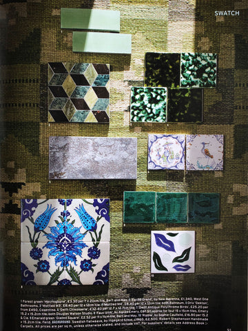 World Of Interiors May 2021 featuring Ripple tiles by Feild