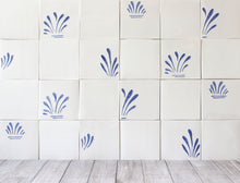 Load image into Gallery viewer, Spray hand painted tiles in Blue