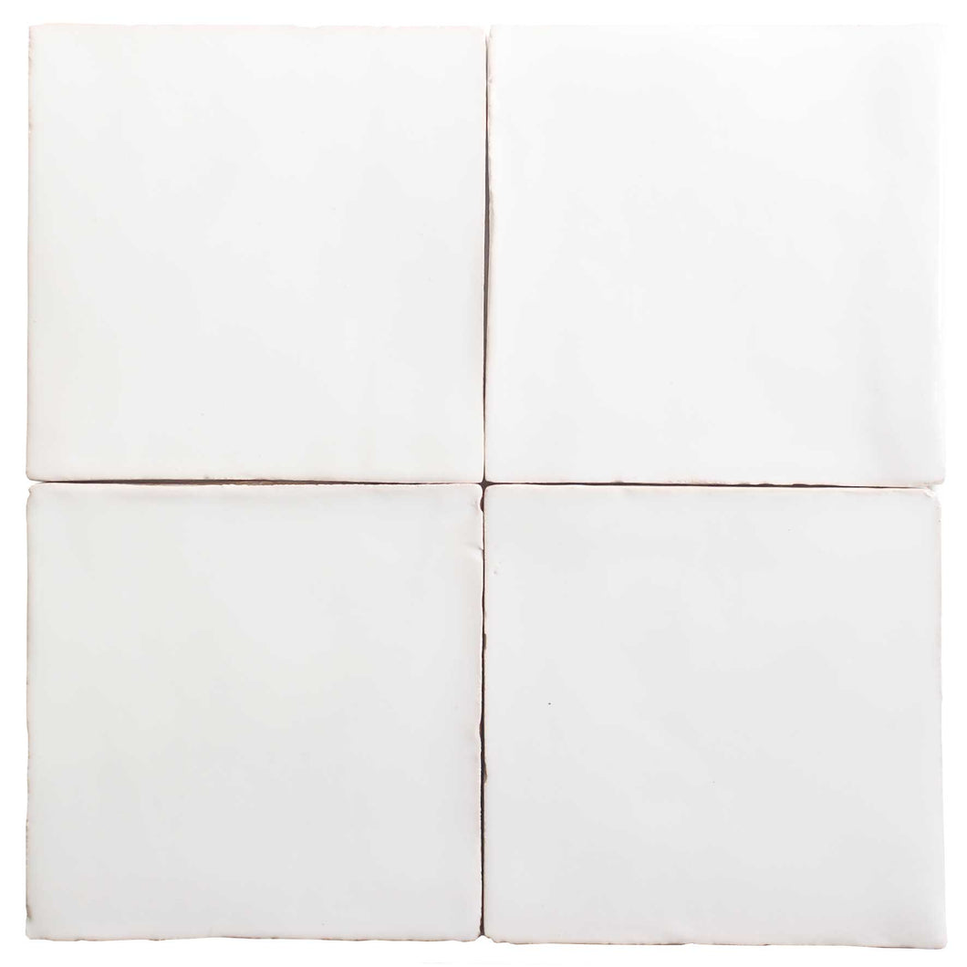 Off-White Glazed Terracotta Tile