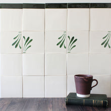 Load image into Gallery viewer, Spray hand painted tiles in Pine