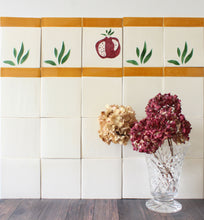 Load image into Gallery viewer, Pomegranate hand painted tiles in Pine