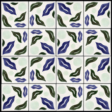Load image into Gallery viewer, Ripple hand painted tiles