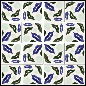Ripple hand painted tiles