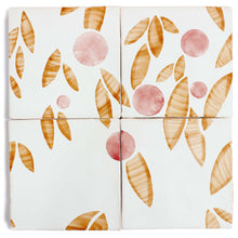 Load image into Gallery viewer, Cherry hand painted tiles in Rust & Rose