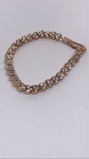 Gold & Diamanté Heart Bracelet