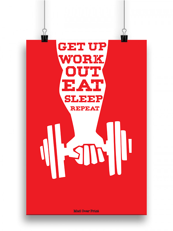 Get Up And Workout Poster