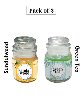 Scented candles combo pack (Sandalwood & Green Tea fragrance)