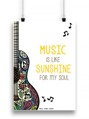 Music Is Sunshine Poster