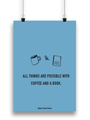 Coffee & A Book Poster