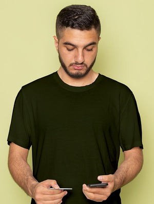 Army-green-basic T-shirt (Men)