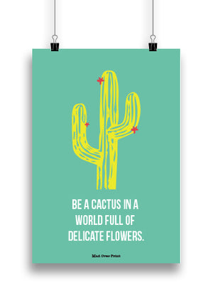 Be Like Cactus Poster